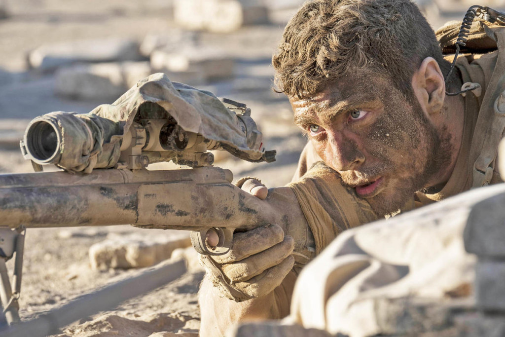 Aaron Taylor-Johnson in THE WALL. from Roadside Attractions press site