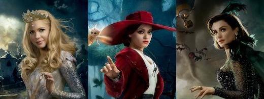 oz-the-great-and-powerful, witches, cinema-siren, evanora, glinda, theodora
