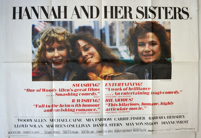 Hannah And Her Sisters : Cinema Quad Poster