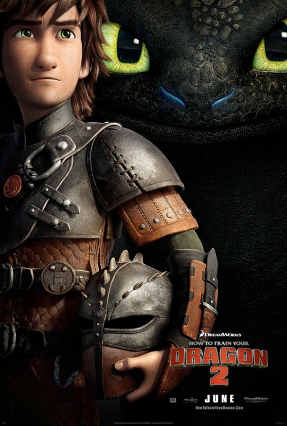 How To Train Your Dragon 2 chief in training and Night Fury dragon