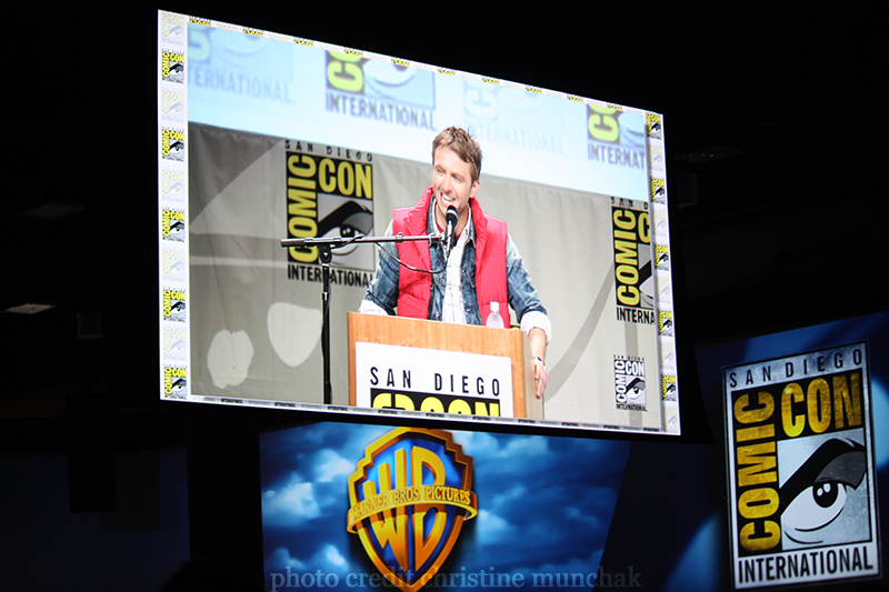 Chris Hardwick on screen in Hall H