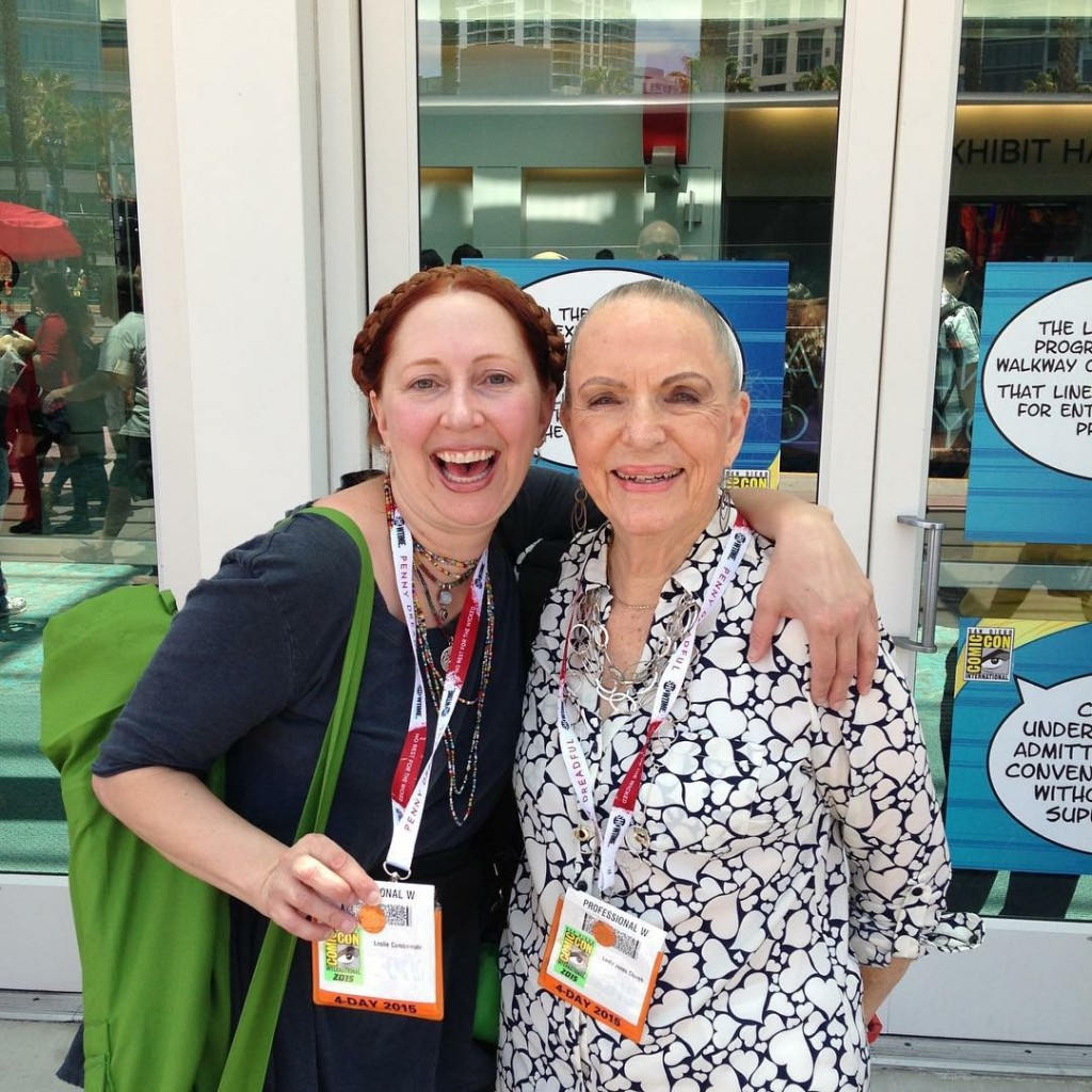 linda-jones-and-leslie-combemale-at-sdcc-2015