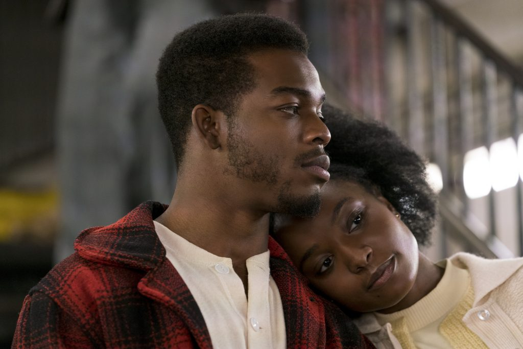 Stephan James as Fonny and KiKi Layne as Tish star in Barry Jenkins' IF BEALE STREET COULD TALK, an Annapurna Pictures release.