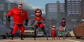 """SUPER FAMILY -- In Disney Pixar's """"Incredibles 2,"""" Helen (voice of Holly Hunter) is in the spotlight, while Bob (voice of Craig T. Nelson) navigates the day-to-day heroics of """"normal"""" life at home when a new villain hatches a brilliant and dangerous plot that only the Incredibles can overcome together. Also featuring the voices of Sarah Vowell as Violet and Huck Milner as Dash, """"Incredibles 2"""" opens in U.S. theaters on June 15, 2018. ©2017 Disney•Pixar. All Rights Reserved."""